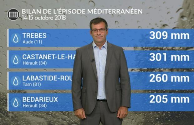 Bilan de l'épisode méditerranéen et des inondations meurtrières dans l'Aude