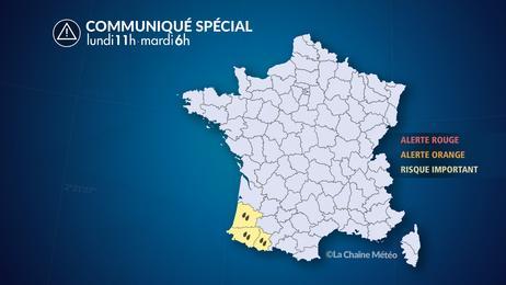 Episode durable de pluies sur le sud de l'Aquitaine