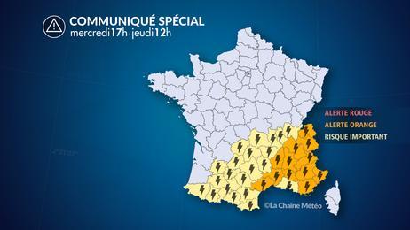 Orages forts dans le sud de la France