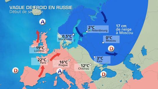 Neige à Moscou : météo exceptionnelle en Russie