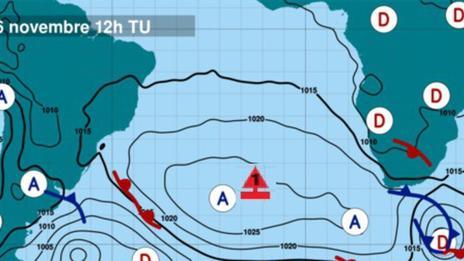 Météo du Vendée Globe : pris au piège de l'anticyclone