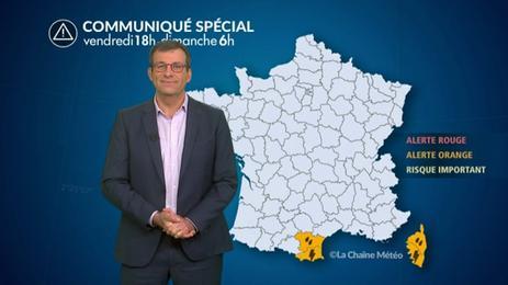 Episode de fortes pluies en Roussillon et Corse
