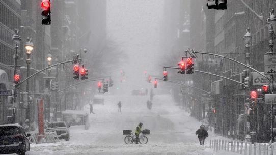 Tempête de neige Orléna à New York : évolution