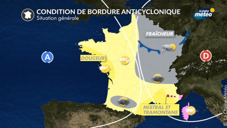 Conditions de bordure anticyclonique en automne : des ressentis différents selon les régions