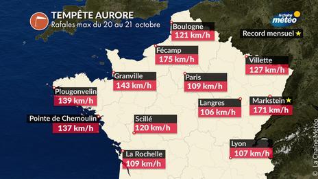 Tempête Aurore : l'une des plus fortes en octobre