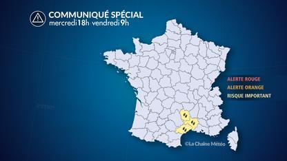 Episode de pluies fortes en Languedoc
