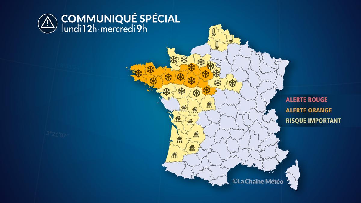 Alerte Météo : Alerte crue, inondations, neige et verglas - La Chaîne Météo