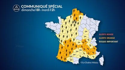Intempéries sur une grande partie de la France