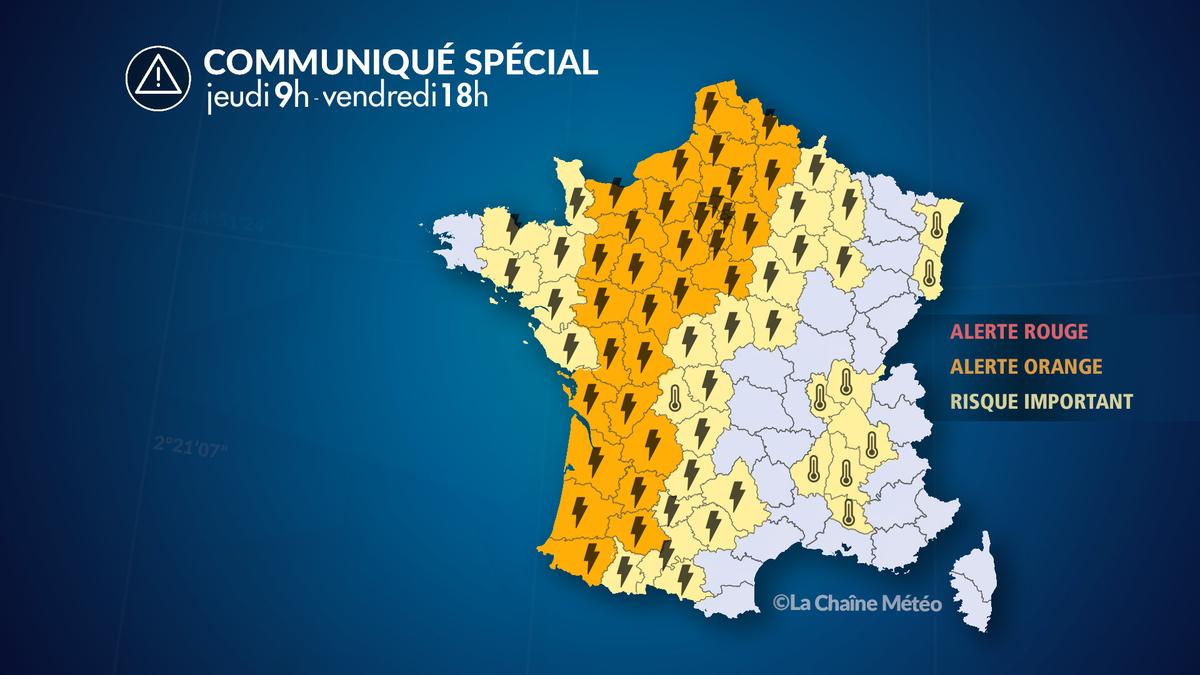 Alerte Météo : Violents orages et fortes chaleurs - Actualités La Chaîne Météo