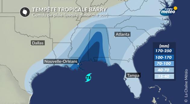 La Nouvelle-Orléans menacée par une tempête tropicale: Trump déclare l'état d'urgence