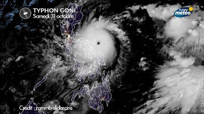 Typhon Goni, vers le plus puissant cyclone dans le monde en 2020 !