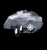 Pluie faible et neige mêlées