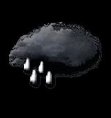 Pluie forte intermittente ou fortes averses